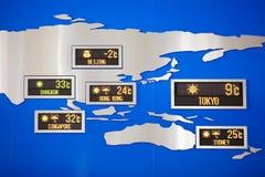 Zegar przy lotniskiem Obraz Royalty Free