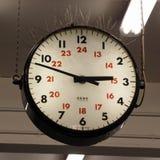 Zegar przy Nottingham stacją Obraz Stock