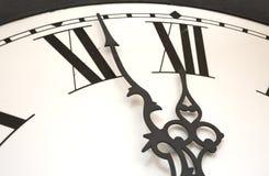 Zegar przy północą prawie Obraz Royalty Free