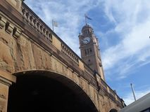 Zegar przy Sydney, Australia Ja jest pobliskim Środkowym dworcem fotografia stock