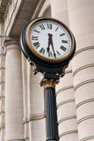 Zegar przy zjednoczenie stacją Kansas City Missouri zdjęcie stock