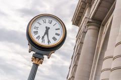 Zegar przy zjednoczenie stacją Kansas City Missouri obrazy stock