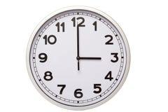 Zegar, Trzy godziny Fotografia Stock