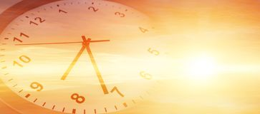 Zegar w niebie Obraz Stock