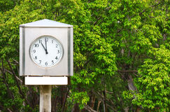 Zegar w parku Zdjęcia Royalty Free