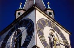 zegar w wieży Fotografia Royalty Free