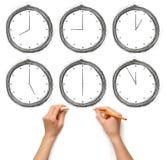 zegar wręcza istoty ludzkiej Zdjęcia Royalty Free