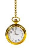 zegar złotego światła Obrazy Royalty Free
