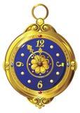 zegar złoto ilustracja wektor