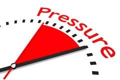 Zegar z czerwoną sekundy ręki terenu naciska 3D ilustracją Obrazy Royalty Free