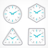 Zegar z różnym kształtem Obraz Stock