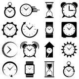 Zegarek ikona Zegarowy logo Zdjęcia Stock