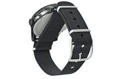 Zegarek militarna tekstylna patka zdjęcie stock
