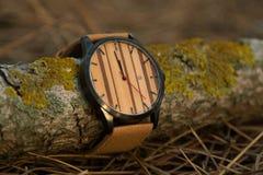 Zegarek w drewnach Zdjęcie Stock