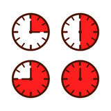 Zegarka czas Owija Prostą ikonę Fotografia Royalty Free
