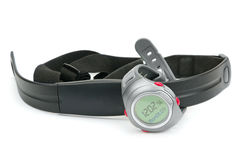Zegarka i klatki piersiowej patka tętno monitor fotografia royalty free