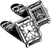 Zegarka kwadrata twarz Zdjęcia Stock