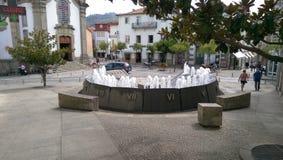 Zegarka, zegaru fontanna/ Zdjęcie Royalty Free
