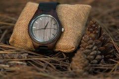 Zegarki w drewnach Fotografia Royalty Free