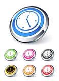 zegarowa ikona Obraz Stock