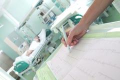 Zegarowa inwigilacja pacjenci w intensywnej opieki pojęciu obraz royalty free