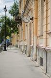 zegarowa stara ulica zdjęcie royalty free