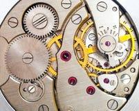 Zegarowego mechanizmu makro- strzał Obraz Stock