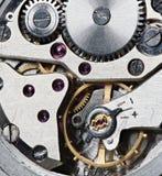 Zegarowego mechanizmu makro- strzał Zdjęcia Stock
