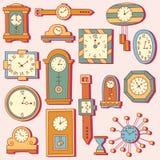 Zegarowego zegarka ikon doodle set