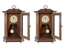 zegarowej mody odosobniony stary drewniany Zdjęcie Stock