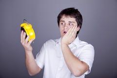 zegarowi śmieszni mężczyzna Zdjęcie Royalty Free