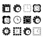 Zegarowi abstraktów symbole Zdjęcie Stock