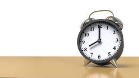 Zegarowy alarm na drewnie Obrazy Royalty Free