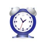 Zegarowy alarm round kształt na białym tle Obrazy Royalty Free