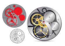 zegarowy analog mechanizm Zdjęcie Stock