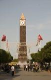 Zegarowy Basztowy Habib Bourguiba Tunis Tunezja fotografia stock