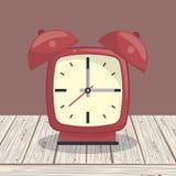 Zegarowy dzwonu alarm na stole ilustracji
