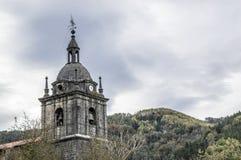 Zegarowy i dzwonkowy wierza dzwony Elduain Obrazy Stock