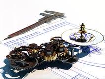 zegarowy machinalny royalty ilustracja
