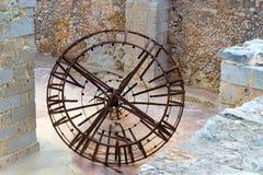 Zegarowy mechanizm, Fortezza kasztel, Rethymno, Crete Fotografia Royalty Free