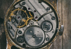 Zegarowy mechanizm makro- Fotografia Stock