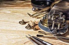 Zegarowy mechanizm w trakcie odbudowy Obraz Royalty Free