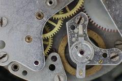 Zegarowy mechanizm z przekładniami brać zbliżenie Fotografia Stock