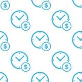 Zegarowy pieniądze bielu wzór Fotografia Stock