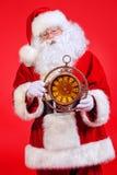 Zegarowy Santa Obrazy Royalty Free