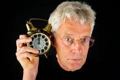 zegarowy starszych osob mężczyzna portret Zdjęcie Royalty Free