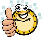 zegarowy szczęśliwy Obraz Royalty Free