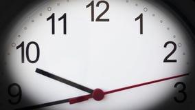 Zegarowy timelapse HD materiał filmowy Ćwiartka dziesięć zbiory