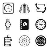 Zegarowy typ ikona set, prosty styl Obraz Stock