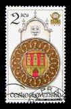 Zegarowy wierza, Astronomiczny zegarowy wierza w Praga seria około 197, Obraz Stock